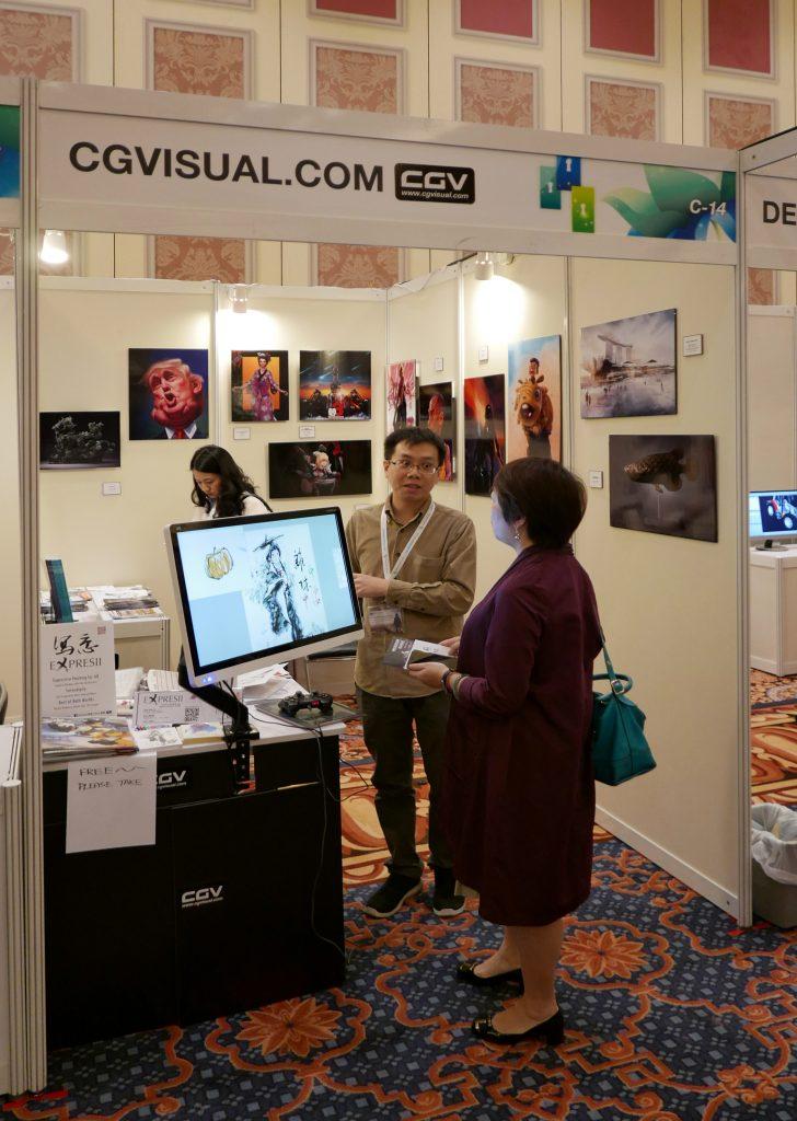 CG Visual 的展覽攤位,雖然空間有限,大家送來的作品都展出了