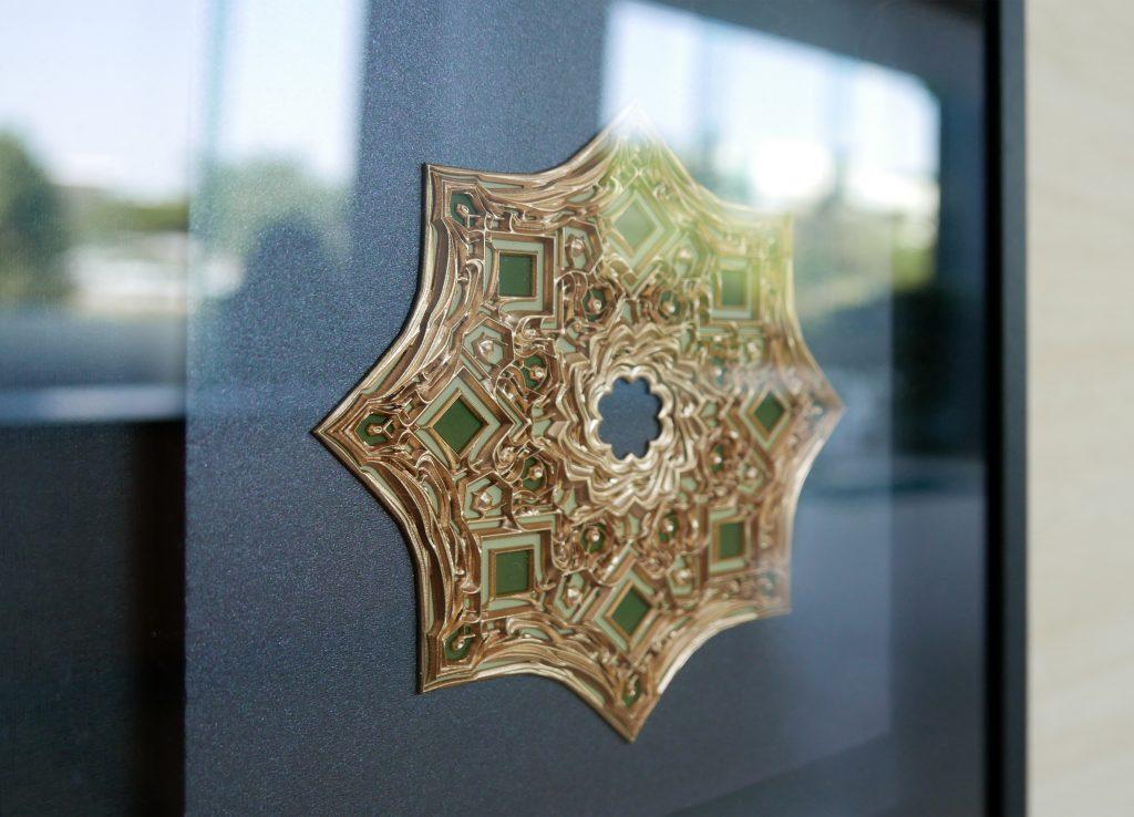 華麗的浮雕是使用3D打印出來的