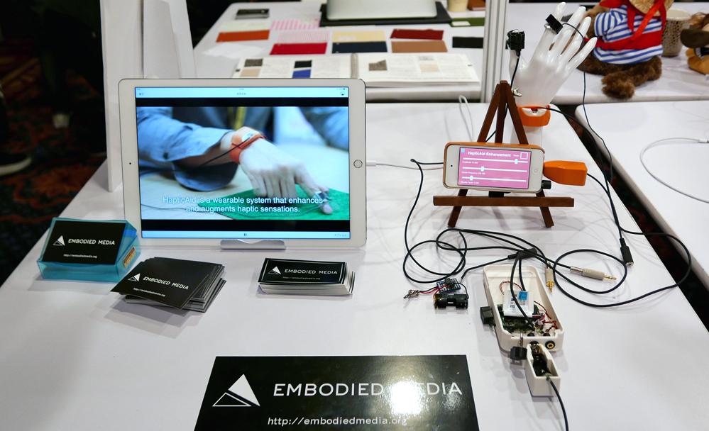 Title: HapticAid: Wearable Haptic Augmentation System For Enhanced, Enchanted And Empathised Haptic Experiences
