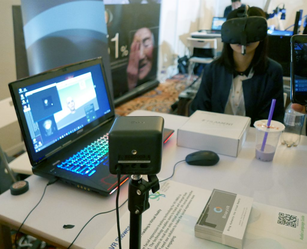 Real-Time Facial Tracking In Virtual Reality